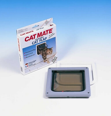 2 Way Lockable Cat Door White - 7.625