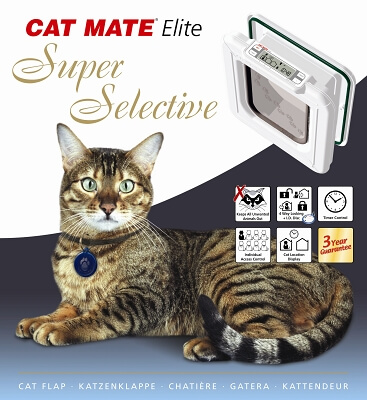 Elite Super Select Cat Flap White - 9.75