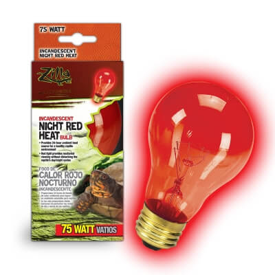 Night Red Heat Incandescent Bulb Boxed 75W