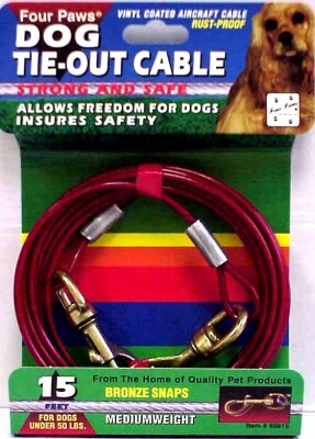 Cable Dog Tie-Out 15'