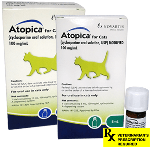 Atopica Rx for Cats, 17ml, 100mg/ml