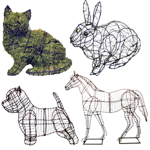 Green Piece Wire Art Topiary