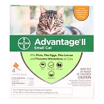 Advantage II Small Cats 5-9 lbs, 4 Pack Orange