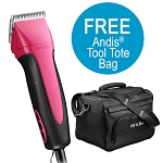 Andis Excel 5-Speed+ Detachable Blade Clipper- Fuschia w/ FREE Tote Bag