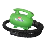 XPOWER B-55 Portable Home Pet Grooming 2-in-1 Dog Force Hair Dryer and Vacuum, Green
