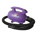 XPOWER B-55 Portable Home Pet Grooming 2-in-1 Dog Force Hair Dryer & Vacuum, Purple