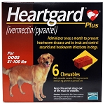 Heartgard Plus Rx, 51-100 lbs, 6 Month (Brown)