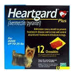 Heartgard Plus Rx, Up to 25 lbs, 12 Month (Blue)