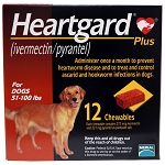 Heartgard Plus Rx, 51-100 lbs, 12 Month (Brown)