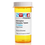 Rx Interceptor 51-100 lbs White Single Tablet