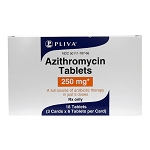 Azithromycin/Zithromax Rx Tablets, 250 mg x 18 ct