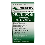 Rx Adequan i.m. Multi-dose 100mg/ml, 500mg/50ml