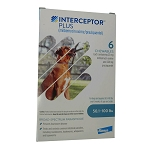 Rx Interceptor Plus 50.1-100 lbs, 23 mg x 6 Chew Tabs, Blue