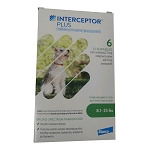 Rx Interceptor Plus 8.1-25 lbs, 5.75 mg x 6 Chew Tabs, Green