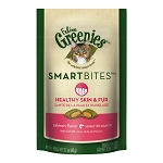Greenies SmartBites Skin & Fur,  Salmon Flavor Cat Treats, 2.1 Ounces