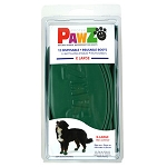 PAWZ Dog Boots, X-Large (Green)
