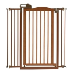 Tall One Touch Gate II Brown