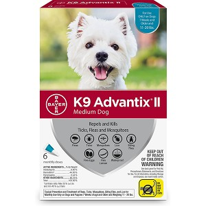 K9 Advantix Ii Medium Dog 11 22 Lbs 6 Pk Teal