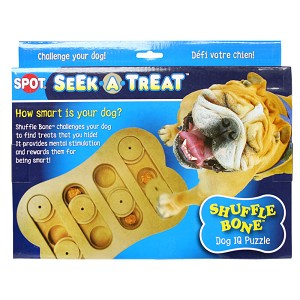 Seek-A-Treat Shuffle Bone Puzzle for Dogs